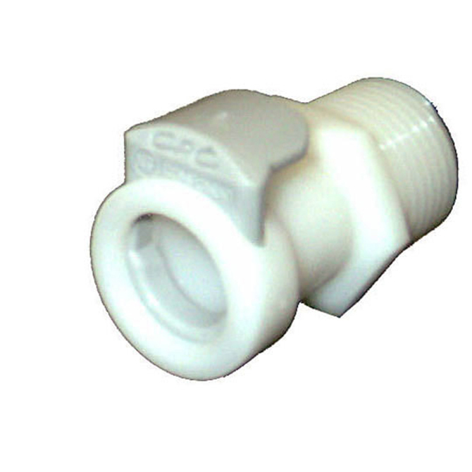Colder Products CP456 Male Pipe Thread Socket 1/4 MPT w/Shut-off