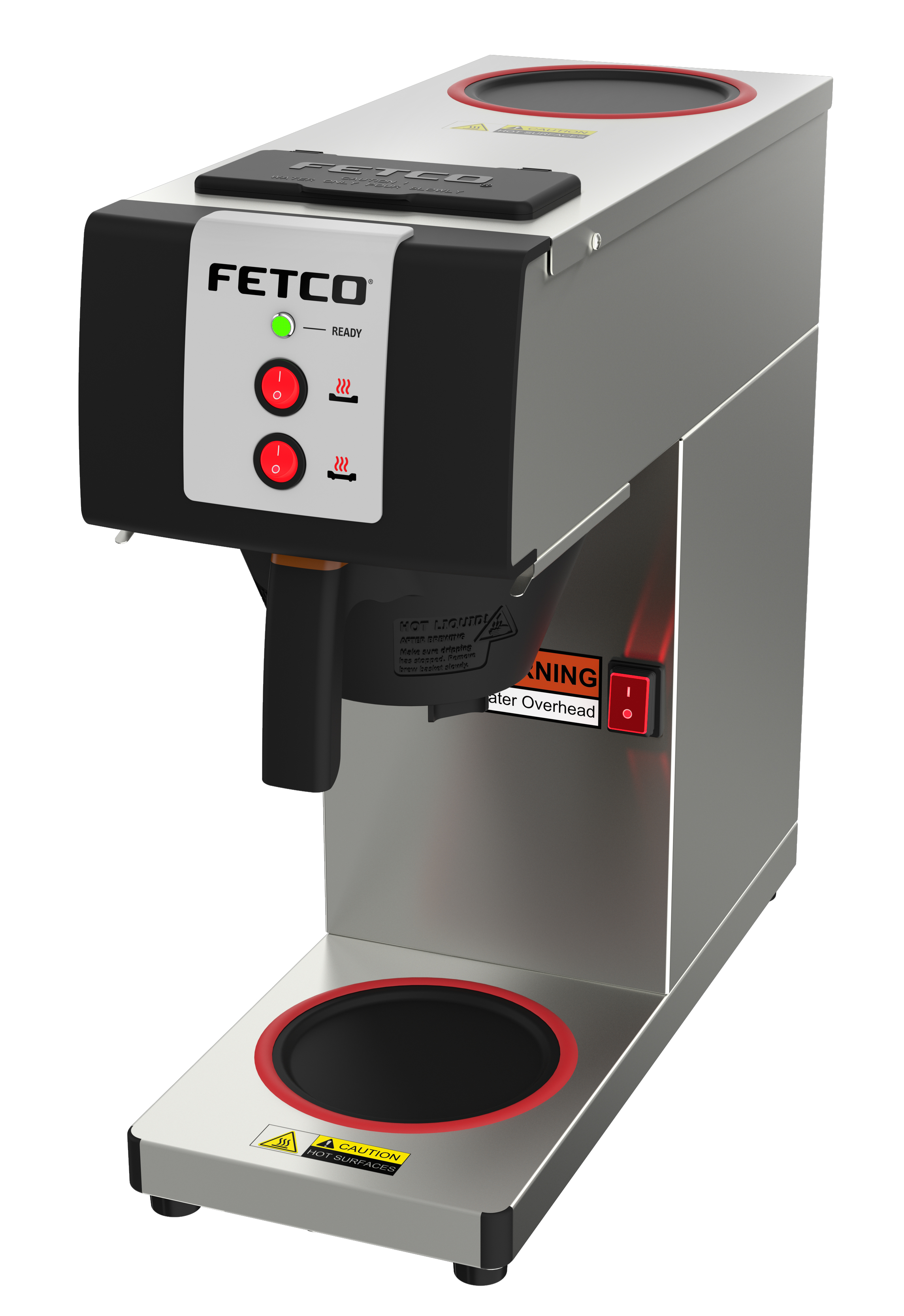 Fetco CBS-2121-PW 0.5G Pourover Brewer for Glass Servers