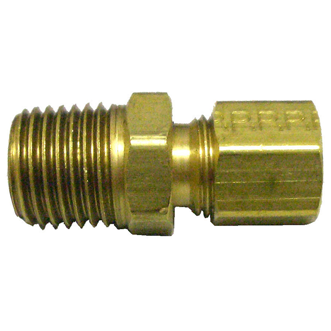 HHD CC42 Male Compression Connector 1/4 Tube x 1/8 MPT