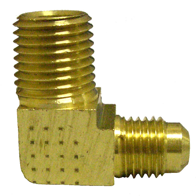 HHD FCE4 Male Connector Elbow 1/4 Flare x 1/4 MPT