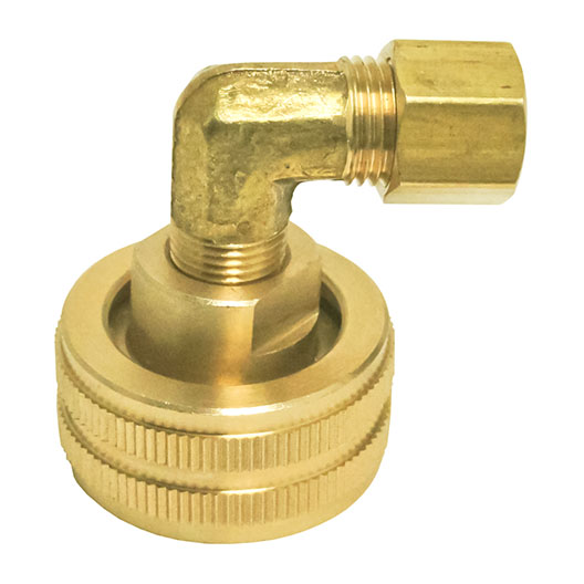 HHD FGHEC4 Female Garden Hose Adapter 1/4 Compression Elbow
