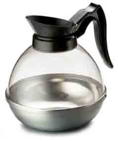 HHD PSD Plastic & Stainless Steel 64 oz. Carafe (black)