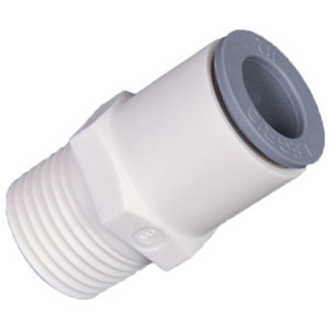 LIQUIfit LMC4 Male Connector 1/4 Tube x 1/4 MPT (10)