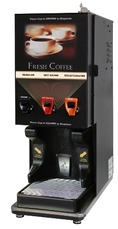 Newco 120496-BPC LCD-2 2 Selection Hot Liquid Coffee Metal Door