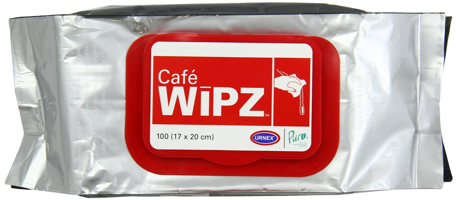 Urnex WIPZ CAFE WIPZ™- Coffee Equipment Cleaning Wipes 12 x 100
