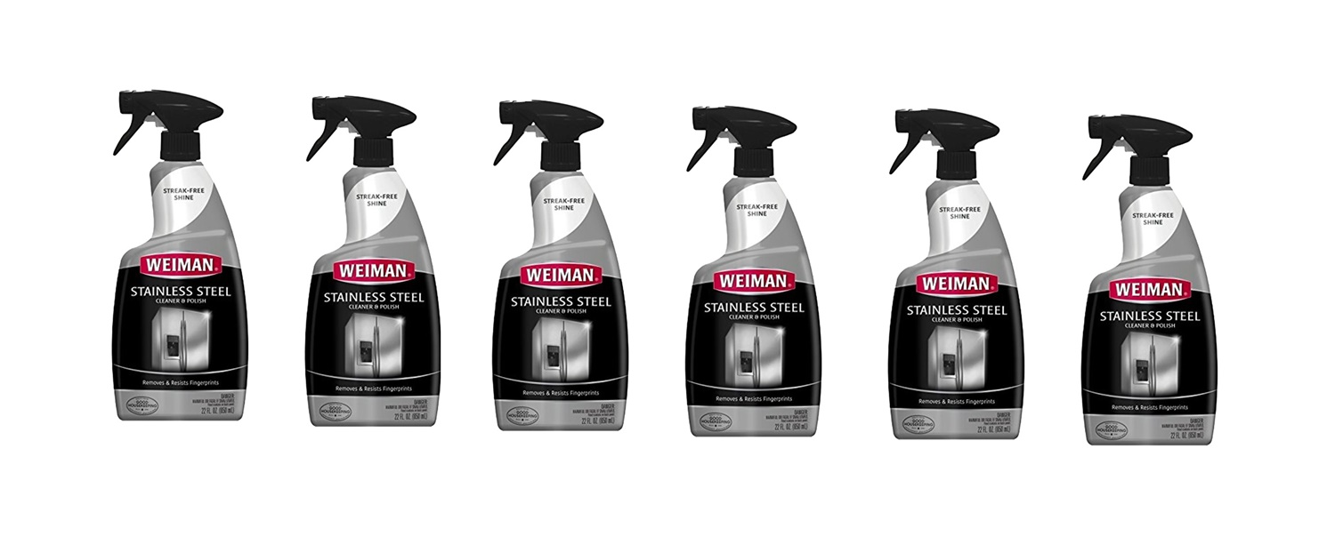 Weiman WG108 Stainless Steel Cleaner and Polish 22 oz. (6)