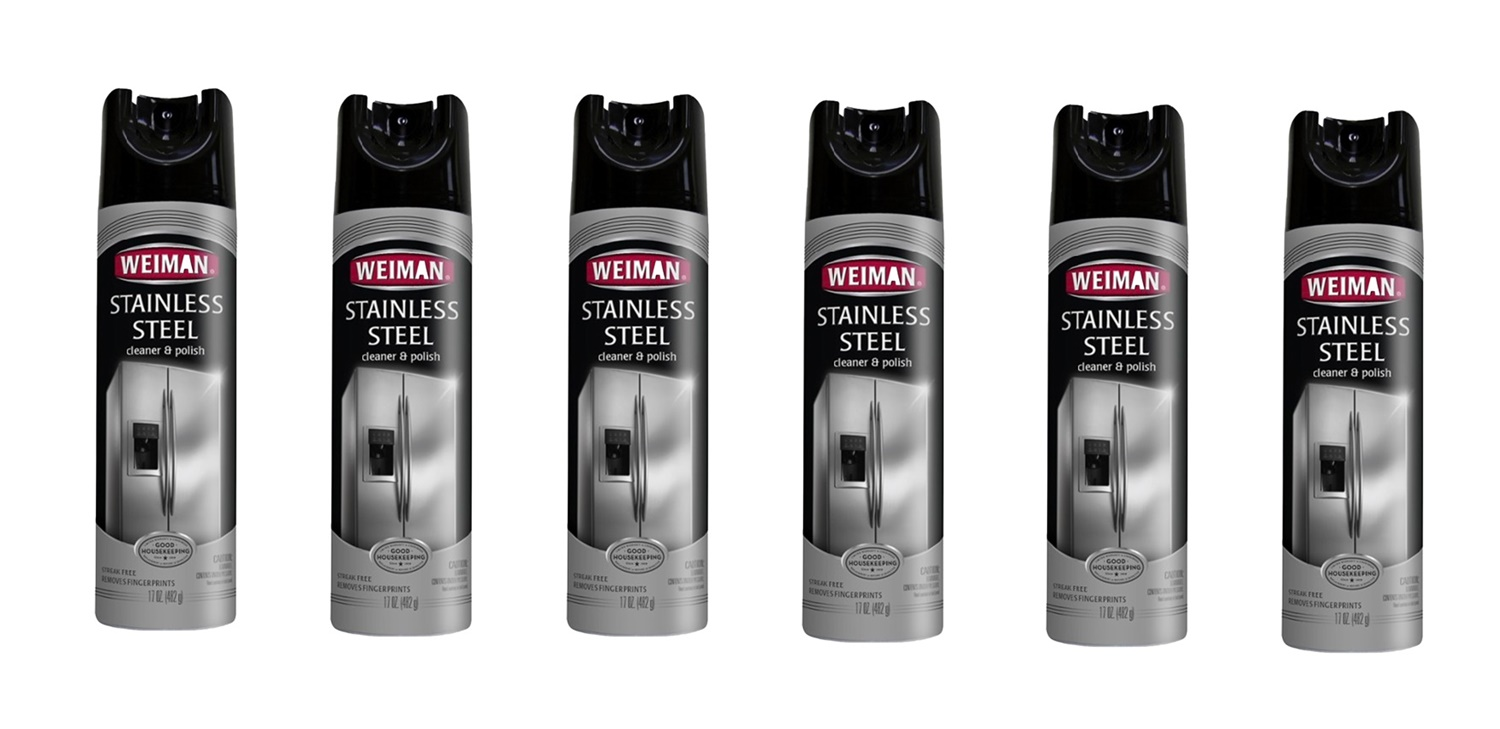 Weiman WG49 Stainless Steel Cleaner and Polish 17 oz. Aerosol 6