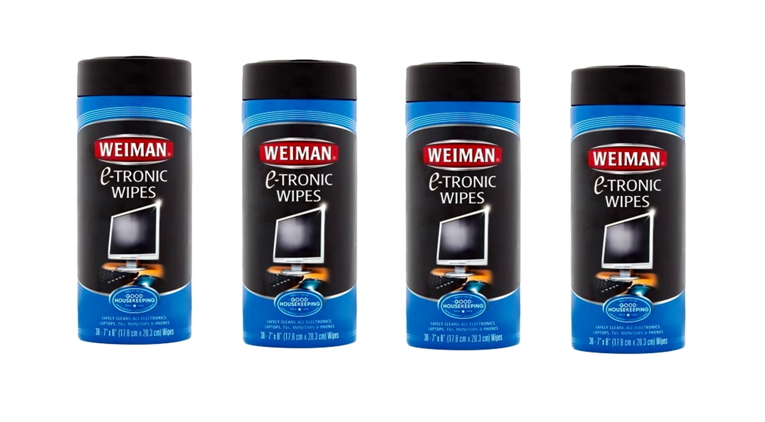 Weiman WG93 E-Tronic Wipes 30 Count 4 Pack