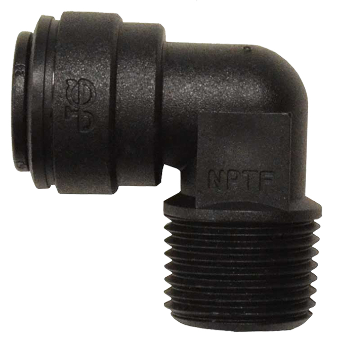 Male Connector Elbows - Black